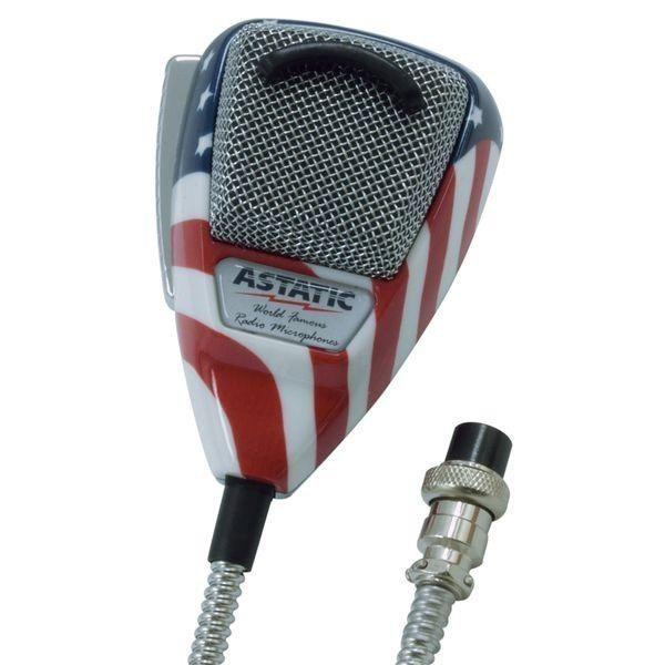 Astatic 636L Ultimate Noise Cancelling Microphone, Stars n Strip