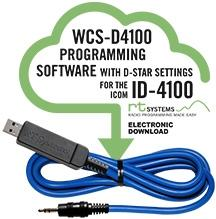 WCS-D4100 Programming Software and USB-29A cable for the Icom ID