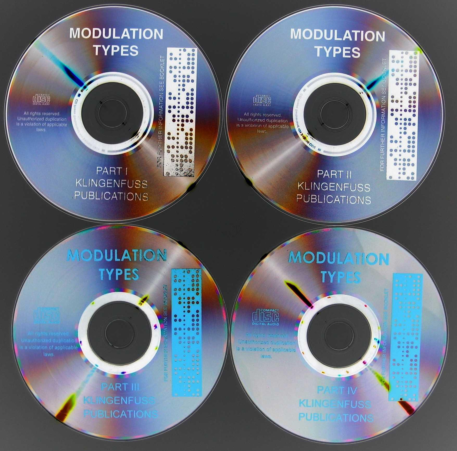 CD Recordings of Modulation Types