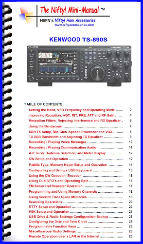 Kenwood TS-890S Mini-Manual by Nifty 1