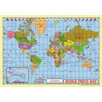 WPMM-MAP World Prefix Map Wall A2 Full Colour