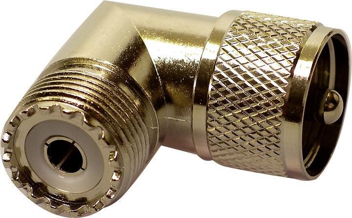 259-90 PL-259 plug to SO-239 socket 90 deg. elbow