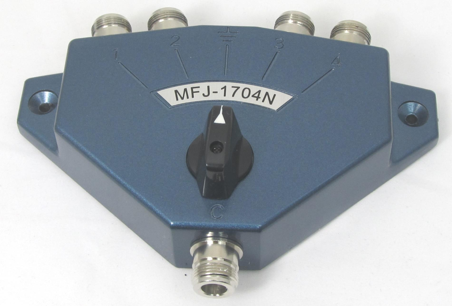 MFJ-1704N 4-way Coax Switch (N-type)
