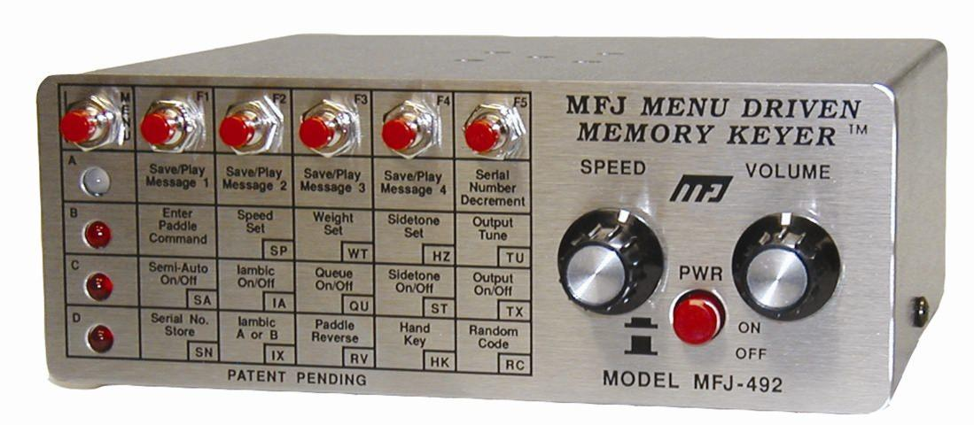 MFJ-492 Menu Driven Memory Keyer/CW Tutor