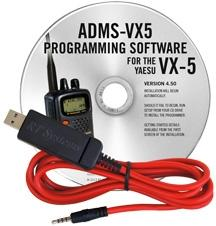 ADMS-VX5 Programming Software and USB-57A cable for the Yaesu VX