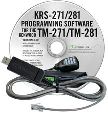 Programming Software and USB-K5D for the Kenwood TM-271 /TM-281
