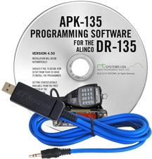 APK-135 Programming Software and USB-29A cable for the Alinco DR