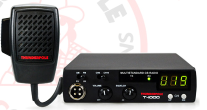 Thunderpole T-1000 FM/AM Mobile CB Transceiver With Dual Voltage