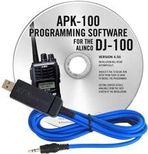 APK-100 Programming Software and USB-29A cable for the Alinco DJ