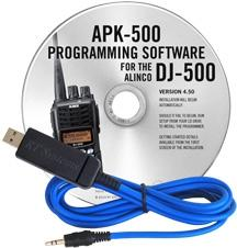 APK-500 Programming Software and USB-29A cable for the Alinco DJ