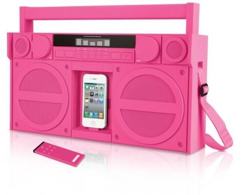 IHOME BOOMBOX SPEAKER IPHONE 4 4S IP4P PINK