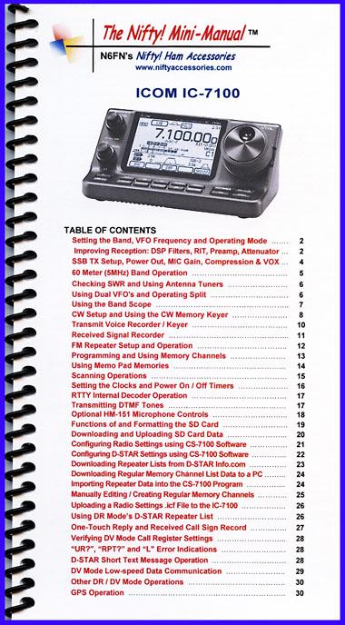 IC-7100 Nifty Manual