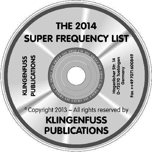 2014 Super Frequency List on CD