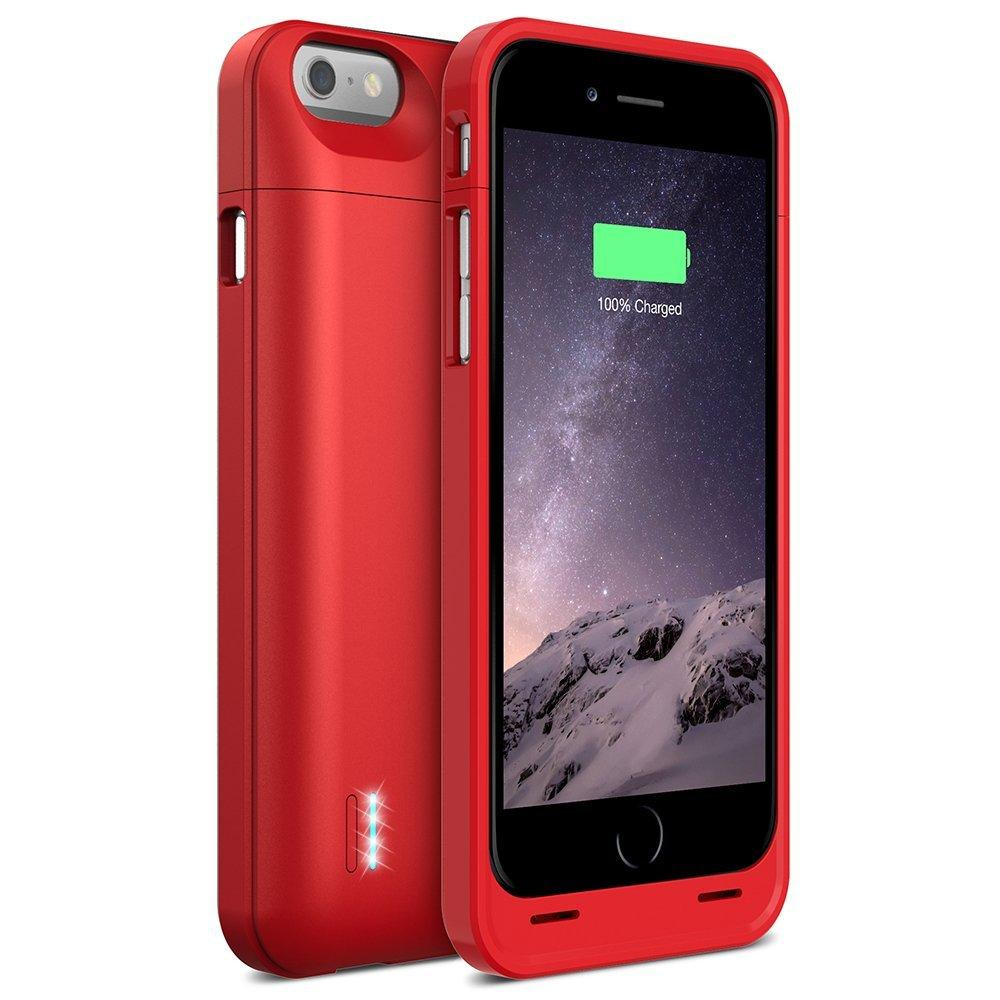 uNu DX-6 Slim Battery Case for iPhone 6 - 3000mAh - Red