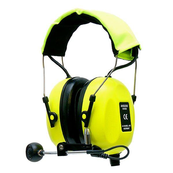 SWATCOM 2Talk Headband, Hi-Viz Yellow c/w Batteries & Charger