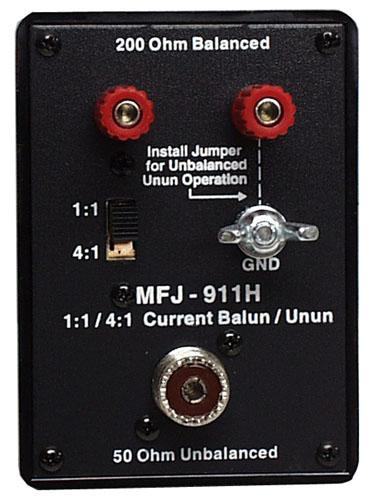 MFJ-911H Switchable 1:1 or 4:1 Balun