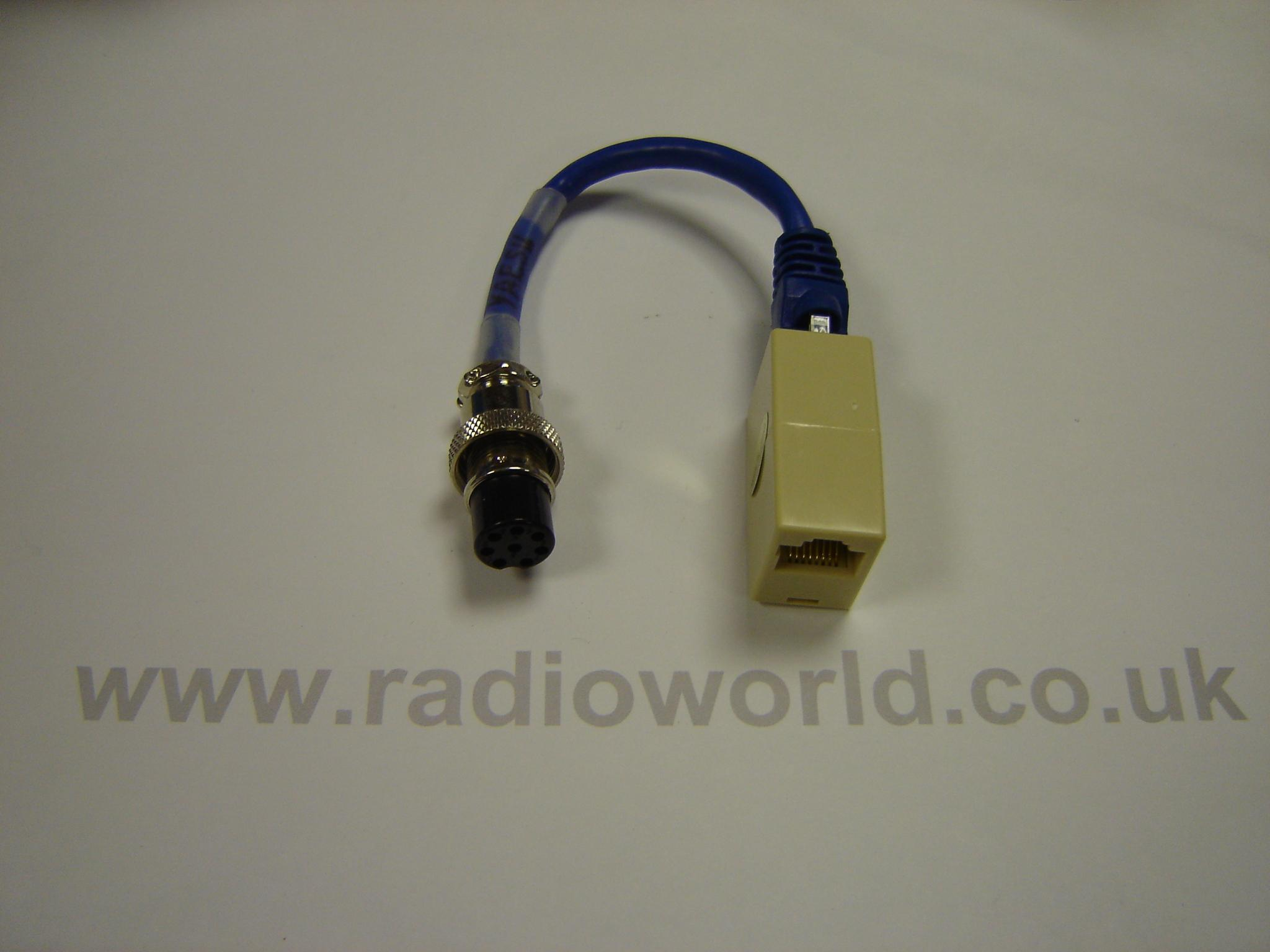 W2IHY Yaesu Adaptor Cable Fitted with 8 Pin & Large Modular Lead