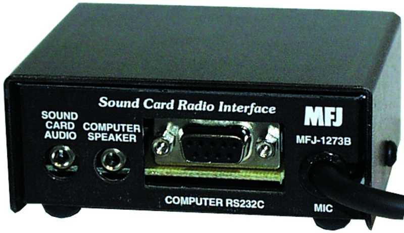 MFJ-1273B Basic Digital Interface 8-pin round mic plug + PSU