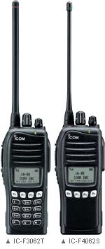 Icom IC-F3062/IC-F4062 with keypad
