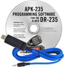 APK-235 Programming Software and USB-29A cable for the Alinco DR