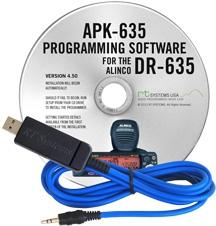 APK-635 Programming Software and USB-29A for the Alinco DR-635