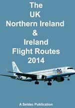 The UK , Northern Ireland and Ireland Flight Routes 2014