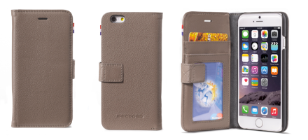 Decoded Case iPhone 6 Leather Flip Grey