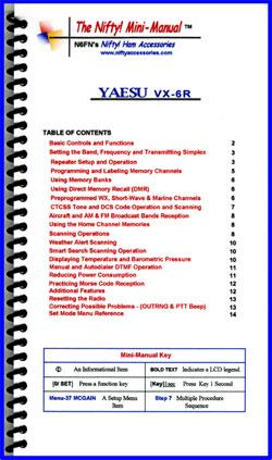 VX-6R Nifty Mini Manual