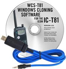 WCS-T81 Programming Software and USB-29A cable for the Icom IC-T
