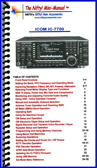 IC-7700 Nifty Mini Manual