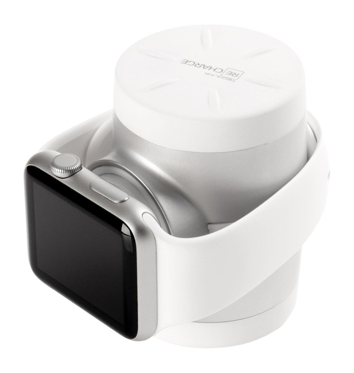Techlink Recharge Apple Watch Power & Travel Case - White/Silver