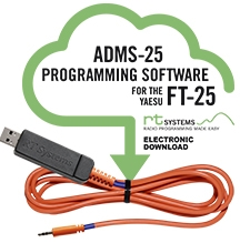 ADMS-25 Programming Software and USB-55 cable for FT-25