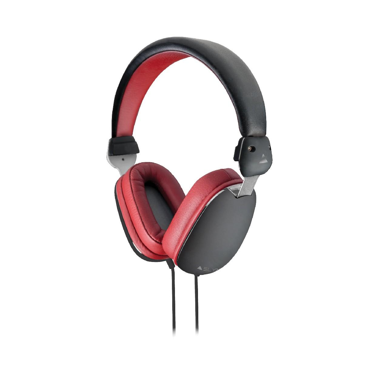 Elyxr Fusion On-Ear Headphones - Black and Burgundy