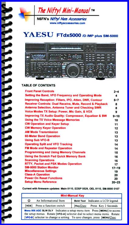 Yaesu FTdx5000 /D /MP Nifty Mini-Manual