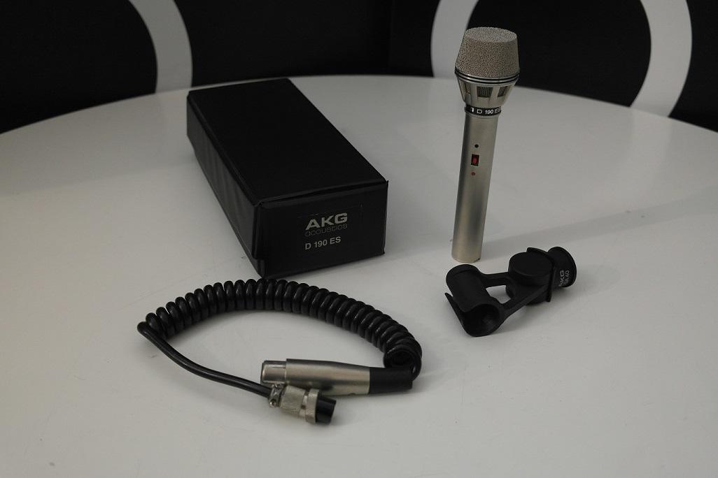 Second Hand AKG D190ES Dynamic Cardioid Microphone Audio Microphone 1
