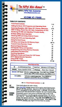 Icom IC-7000 Nifty Mini Manual