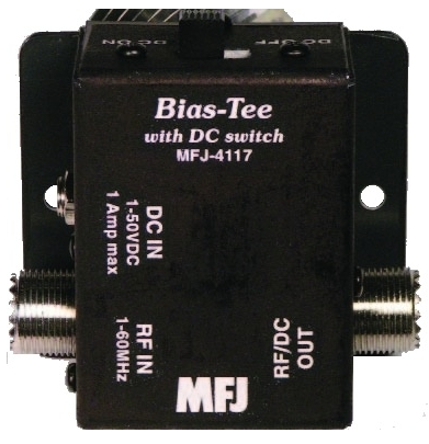 MFJ-4117  Bias-Tee 1-60MHz with DC Switch