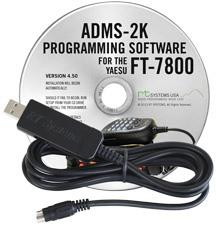ADMS-2K Programming Software and USB-29B cable for the Yaesu FT-