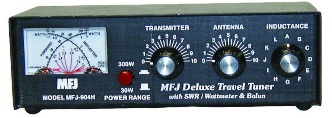 MFJ-904H 3.5-30MHz 150W Travel Tuner with SWR/PWR meter