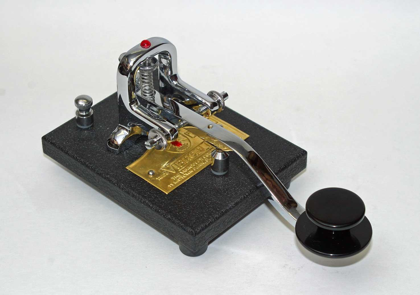Vibroplex Straight Key Standard Black Base