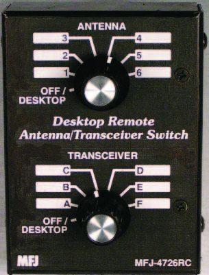 MFJ-4724 4-position Desk/Remote Antenna/Transceiver Swit