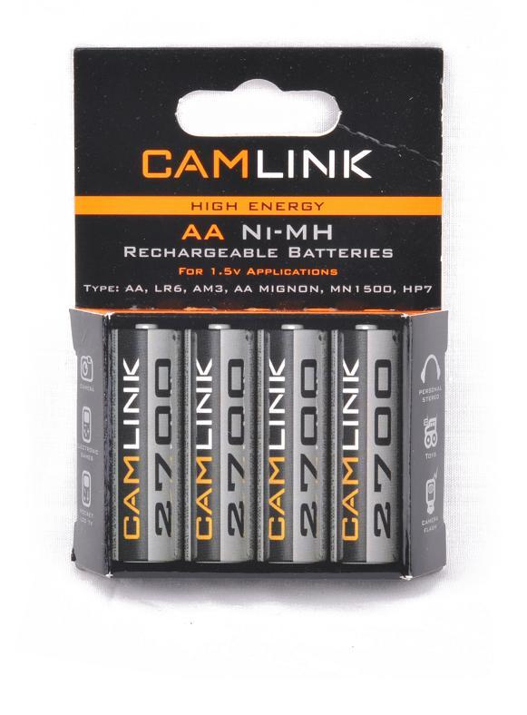 CAMELION AA SIZE NIMH BATTERY 2600maH 4PC/PK