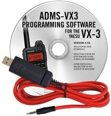ADMS-VX3 Programming Software and USB-57A cable for the Yaesu VX