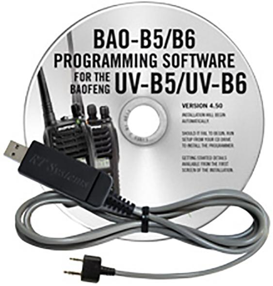 Baofeng Uv b5 And Uv b6 Programming Software And Usb k4y Cable
