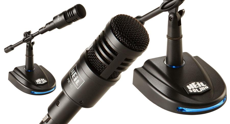 Heilsound PR-10 Communications Microphone Package