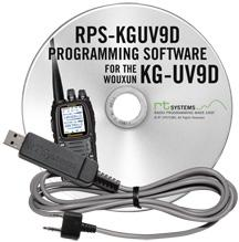 RPS-KGUV9D Programming Software and USB-K4Y cable for the Wouxun