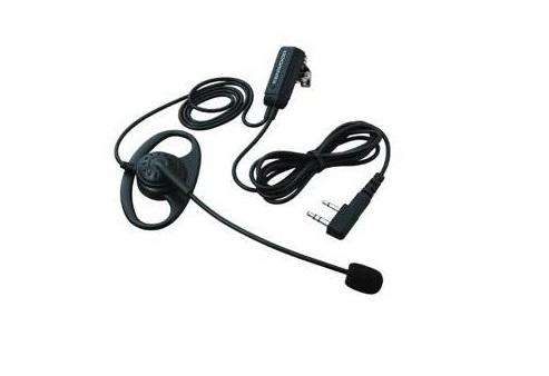 "Kenwood KHS-28F  Boom Microphone with ""D"" Earpiece and PTT"