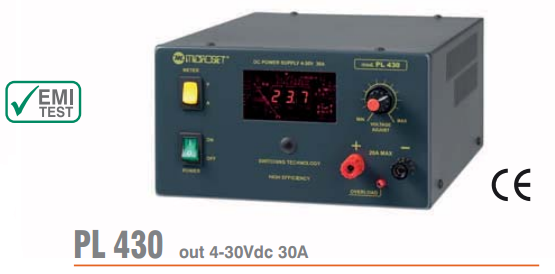 Microset PL-430 30 Amp Linear Power Supply