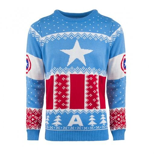 Marvel Official Captain America Christmas Jumper