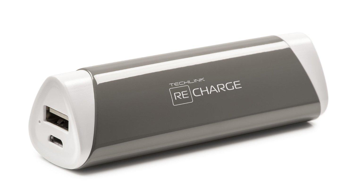 Techlink ReCharge 2600 Battery Power USB Portable Charger